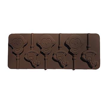 Hasiky - Molde de Silicona 3D para paletas de golosinas, Chocolate, Fondant: Amazon.es: Hogar