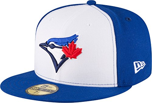 New Era 59Fifty Hat Toronto Blue Jays Current Season Alternate White/Blue Fitted Cap (7 3/4)