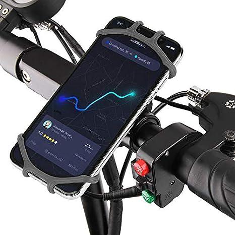 bqlove Soporte Movil Bicicleta, Soporte De Montaje para TeléFono De Bicicleta De Silicona De RotacióN De 360 ° Adecuado para Cualquier TeléFono MóVil De 4 A 6,3 Pulgadas: Amazon.es: Deportes y aire libre