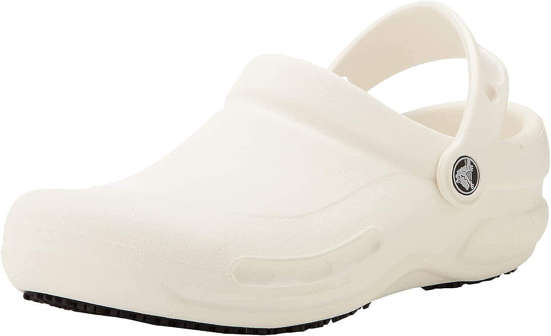 Crocs Unisex-Adult Men's and Women's Bistro Clog | Slip Resistant Work Shoe