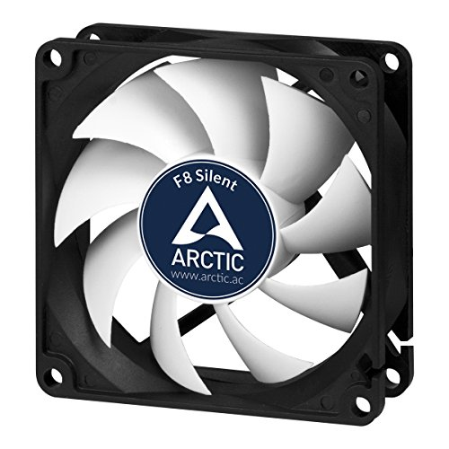 ARCTIC F8 Silent - Ultra-Quiet 80 mm Case Fan | Silent Cooler with Standard Case I almost inaudible | Push- or Pull Configuration possible (Ultra Fan Quiet)