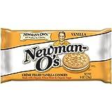 Newmans Own Organics Vanilla Creme Filled Vanilla Cookie, 8 Ounce - 6 per case.