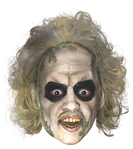 Rubie's Men's Beetlejuice 3/4 Mask with Hair, Multi, One Size