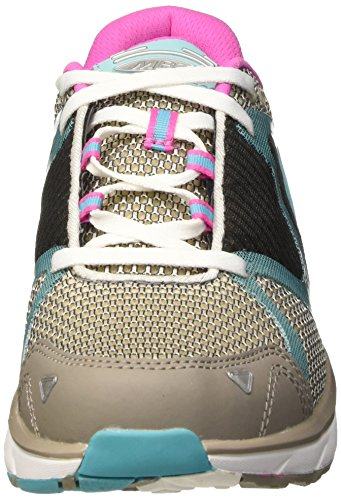 Mbt Womens Leasha Trail Lace Up Scarpa Da Passeggio Soft Grey / Aqua Sea / Pink Pop