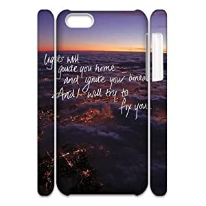 Customized Phone Case with Hard Shell Protection for Iphone 5C 3D case with lights will guide you home lxa#240246