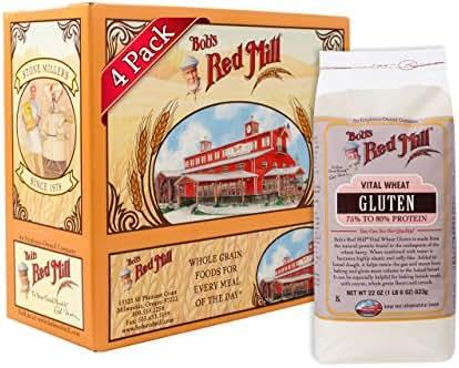 Bob's Red Mill Vital Wheat Gluten Flour, 22-ounce (Pack of 4)