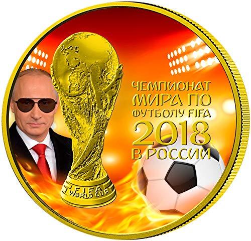 2018 RU Modern Commemorative PowerCoin FIFA WORLD CUP President Putin Fire 1 Oz Silver Coin 3 Rubles Russia 2018 BU Brilliant Uncirculated (Best Fifa Coin Seller)