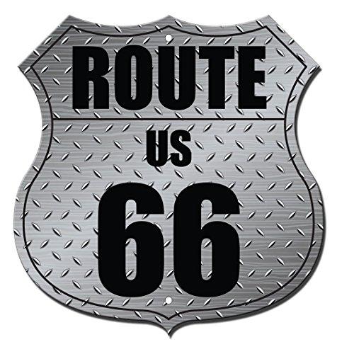 Route 66 Metal Diamond Highway Shield Novelty Highway Shield Metal Sign