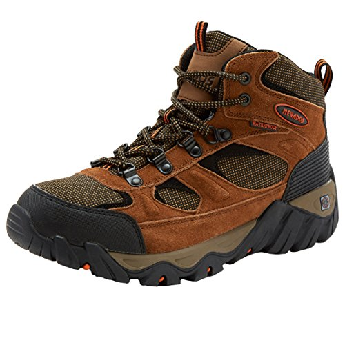 Nevados Men's Mesa Mid Waterproof Genuine Suede Hiking Boot 9 Wide Width (2E) Brown/Orange (Wide Width Shoes Hiking)