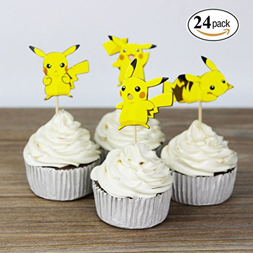 Pikachu Pokemon Cupcake Toppers Party Pack for 24