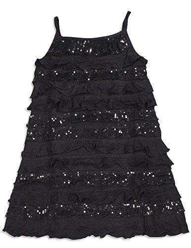 (Lipstik - Big Girls' Tank Dress, Black)