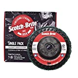 """Scotch-Brite Clean and Strip XT Pro Extra Cut Disc - Heavy Rust Remover - 4.5"""" diam. x 5/8-11 Quick Change Thread - Extra Coarse Aluminum Oxide - Pack of 1"""