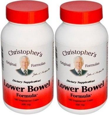 Dr Christopher's Lower Bowel Formula Vegetarian 100 Capsules 450 mg (Pack of 2)