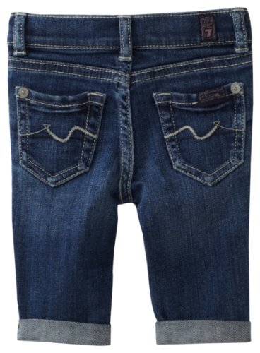 7 For All Mankind Baby Girls' Denim Crop and Roll Pant