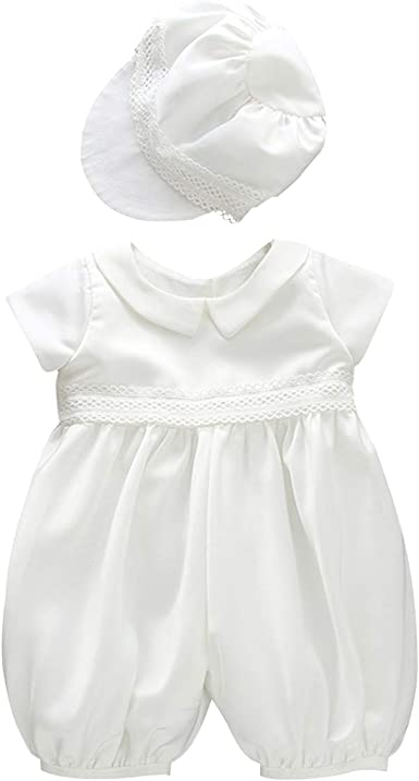 BABY BOYS CHRISTENING SUIT WHITE ROMPER OUTFIT BIPTISM SPECIAL OCCASION WEAR