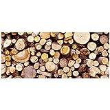 K&A Company Photo Mat - Firewood, 60'' x .5'' x 25'' x 6 lbs, Runner - 60 W x 25 D