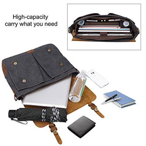portátil maletín del vendimia la de y S hombro taleguilla bolso Small bolso bolsa ZONE la bolsa de tela de Gris de genuino mensajero cuero Size ordenador nZ8U8x7qBw
