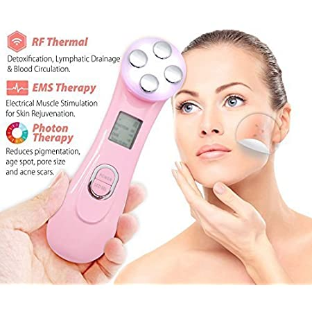 Carer Wrinkle Remove Machine Radio Frequency Face lifting 5 in 1 Multi-function Skin Tightening Device Face Care Massager