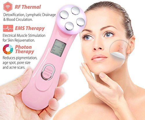 Face Skin Lift Skin Face Lifting (Carer Winkle Remove Machine Radio Frequency Face lifting 5 in 1 Multi-function Skin Tightening Device Face Care Massager)