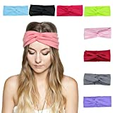 Facial Yoga Classes - DRESHOW Women 8 PCS Twisted Headbands Headwraps Hair Bands Bows Accessories (Style C)