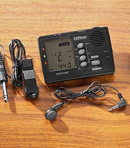 Metro sintonizador metrónomo Afinador generador de tono + Micrófono Negro sin auriculares: Amazon.es: Instrumentos musicales