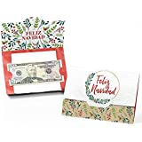 Feliz Navidad - Holiday and Spanish Christmas Party Money and Gift Card Holders - Set of 8