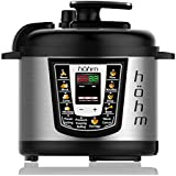 Hohm Pressure Cooker Pro, Multi-Functional Electric Pressure Cooker 6 Quart 8 Preset Settings 1000 Watt (Silver)