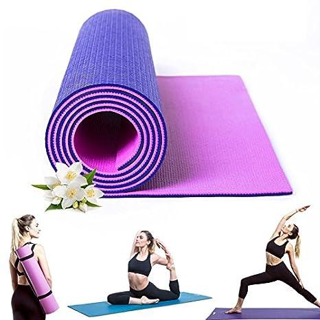 Amazon.com : Kamachi Purple/Pink Yoga Mat For Women, Dual ...