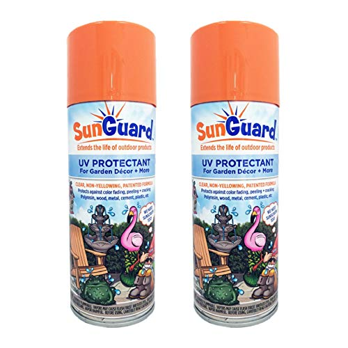 - SUNGUARD UV Protectant Spray for Outdoor Decor, Furniture & More (2-Pack) Prevents Fading Peeling and Cracking