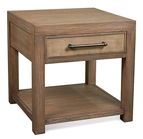 (Riverside Furniture End Table in Ecru Finish)