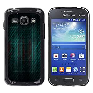 MOBMART Carcasa Funda Case Cover Armor Shell PARA Samsung Galaxy Ace 3 - Striped Dark Green Pattern