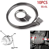 Motoparty Universal Adjustable AXLE CV Joint Boot Crimp Clamp Kit,Stainless Steel,10pcs(5pc Small+5pcs Large) Clamp Kit