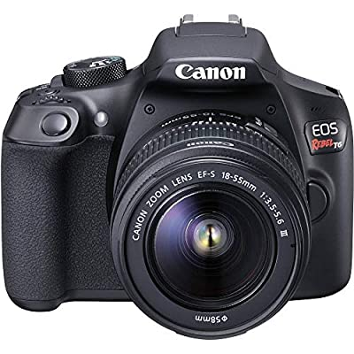 Canon EOS Rebel T6 Digital SLR Camera Kit with EF-S 18-55mm f/3.5-5.6 is II Lens, Built-in WiFi and NFC - Black (Certified Refurbished) by Canon