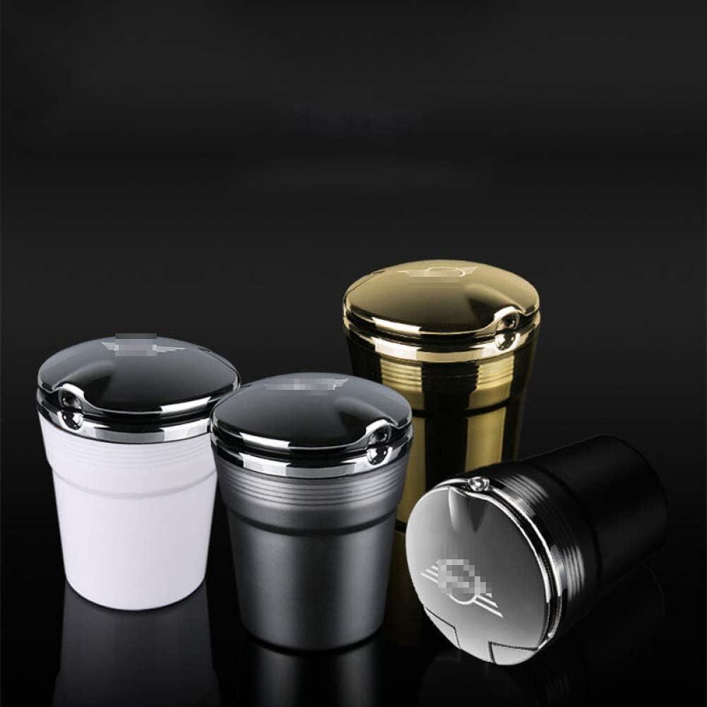 Voiture cendrier Voiture avec LED lumi/ère Voiture cendrier cendrier de Voiture Poubelle bo/îte pour Mini tonneliers Cooper Accessoires r56 r53 r50