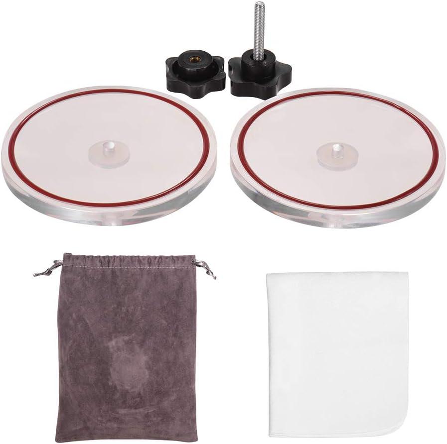Lepeuxi LP Vinyle Record Cleaner Pince Vinyle Record Lable Saver Protecteur Acrylique Imperm/éable Nettoyer Outil avec Chiffon De Nettoyage Sac De Transport