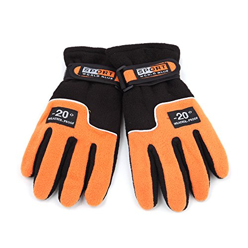 1 Pair Adjustable Windproof Women Skiing Gloves Outdoor Thermal Winter Cycling Hiking Snowboard Motorcycle - - Big Heads Best Oakleys For