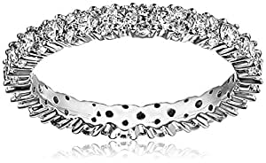 18k White Gold Garland Diamond Eternity Ring (1 1/7 cttw, G-H Color, VS1-VS2 Clarity), Size 8.5