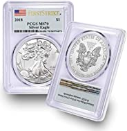 2018 American Silver Eagle $1 MS70 PCGS First Strike