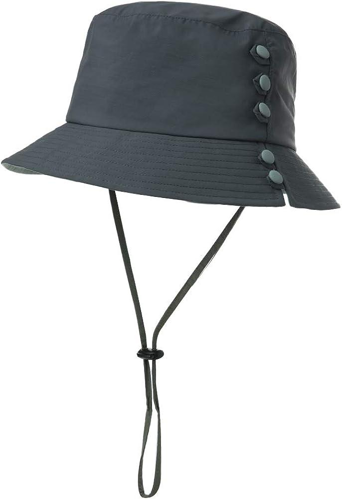 Comhats Faltbarer Damen Regenhut Sonnenhut wasserdichte M/ütze mit Kinnband UPF50+