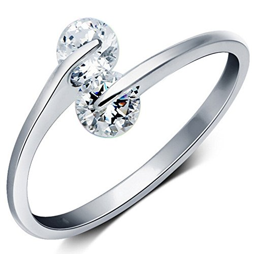 SALE! 18k White gold plated ladies ring Reg. Price - Type Wize