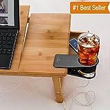 CLAYTON Drinking Cup Holder Clip - Home Office Table Desk Side Huge Clip Water Drink Beverage Soda Coffee Mug Holder Cup Saucer Clip Design, Black