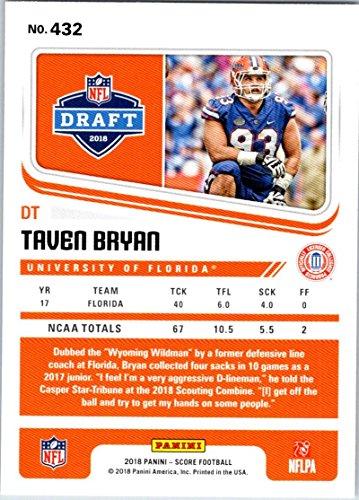 Amazon.com  2018 Score  432 Taven Bryan Florida Gators Rookie RC Football  Card  Collectibles   Fine Art db720ef5f