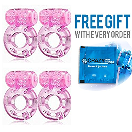 Vibrating Ring 4 PACK CrazyLowPricesForYou FREE Personal Lubrication