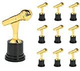 5 plastic gold trophy pack of 12 - Fun Express 12 GOLD Microphone Trophies (3