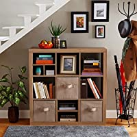 Better Homes and Gardens 9-Cube Versatile Organizer Storage Bookcase (Weathered)