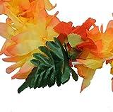 Tropical BLAZE Hawaiian Lei Polynesian Faux Hybiscus Flower Necklace