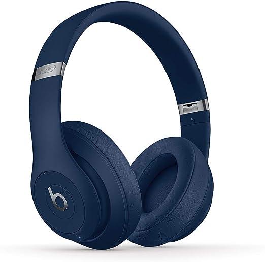 Beats Studio3 Wireless ワイヤレスノイズキャンセリングヘッドホン -Apple W1ヘッドフォンチップ、Class 1 Bluetooth、アクティブノイズキャンセリング機能、最長22時間の再生時間 - ブルー