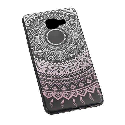 Ultra Slim Silikon TPU Handy Hülle - Transparent mit Mandala Tattoo Design - für - Apple iPhone 7 4,7 Zoll - Case Cover