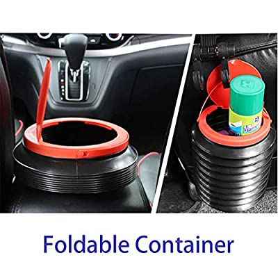 Doublx Car Trash Can Collapsible Small Garbage Bin Foldable Mini Container Trashcan, 1.2 Gallon Storage Bins Portable Water Bucket, Multifunctional Plastic Tub for Fishing Camping: Automotive