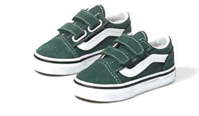 Amazon.com | Vans Toddler Old Skool Trekking Green WHT JNV3N ...